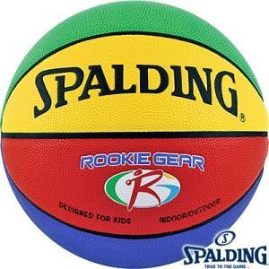 軽いバスケットボール5号 SPALDING子供用ルーキーギア イエローグリーン スポルディング74-281Z|senssyo