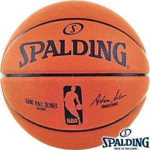 女性用 外用NBAバスケットボール6号 SPALDINGオフィシャルNBAゲームボール レプリカ ラバー スポルディング83-043Z|senssyo