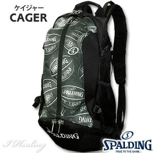 SPALDING ケイジャー ボールプリント 40-007 バスケットボール バッグ スポーツ バスケ用バックパック リュック スポルディング CAGER 40-007BP|senssyo