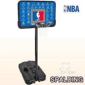 SPALDING バスケットゴール 屋外用 NBAチームシリーズ ノー工具 バスケットボール バスケの練習 ゴール 112cmバックボード スポルディング GOAL 61-501CN|senssyo