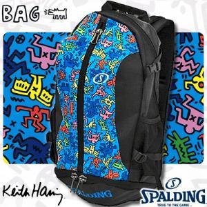 SPALDINGケイジャー キースヘリング リュック ブルー バスケットボールバッグ スポルディング40-007KHBL|senssyo