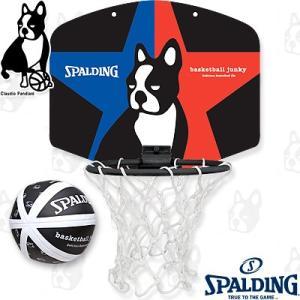 basketball junkyマイクロミニ スラムディング+1 楽しいスポーツ犬パンディアーニ君 バスケットボール 壁掛けバスケットゴール SPALDING77-999BJ senssyo