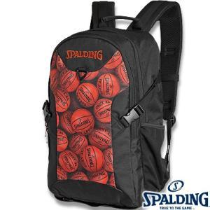 スポルディング フォスター ボールプリント ブラウン バスケットボール リュック バスケ収納バッグ SPALDING40-006BPB senssyo