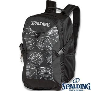 スポルディング フォスター ボールプリント ブラック バスケットボール リュック バスケ収納バッグ SPALDING40-006BKB senssyo