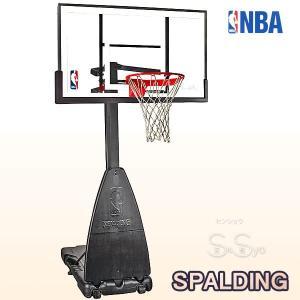 SPALDING バスケットゴール プラチナム ポータブル バスケットボール バスケ練習 ゴール NBAバックボード137cm スポルディング GOAL 68490JP|senssyo