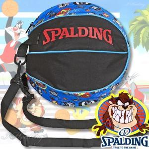 スポルディング ボールバッグ タズ ルーニーテューンズ ブラックブルー バスケットボール収納 SPALDING49-001TAZ|senssyo