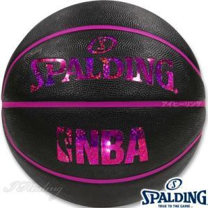 スポルディング バスケットボール6号 キラキラ ホログラム ブラックレッド ラバー SPALDING83-661J|senssyo