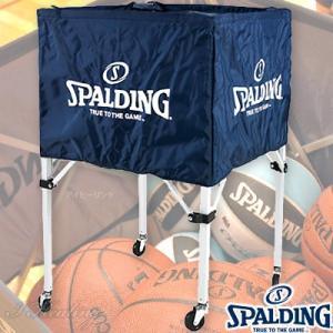 スポルディング ボールカート ナイロン 折りたたみ式 バスケットボール15個入れボールカゴ ネイビー SPALDING63-763Z senssyo