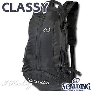 SPALDING クラッシー ケイジャー ブラック BLACK 光沢ポリエステル 41-009BK バスケットボール バッグ スポーツ バスケ用バックパック リュック スポルディング|senssyo
