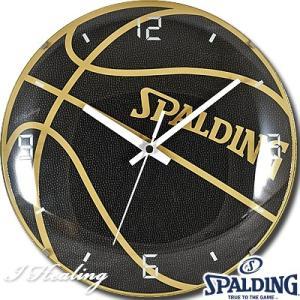 ボールクロック インテリア バスケットボール掛け時計 スポルディング ブラック SPALDING10-002WC|senssyo