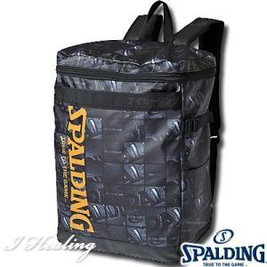 SPALDING ダウンタウン ボールウインドウ バスケットボール ボックス型リュックサック スポルディング バッグ 49-003BW BALL WINDOW senssyo