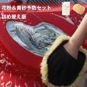 花粉予防セット詰め替え版 パワーフォーム詰め替え用800ml ムートングローブ 花粉予防 洗車の王国|sensya