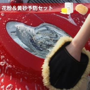 花粉予防セット パワーフォーム800ml ウォッシュスポンジ ベーシッククロス ムートングローブ 洗車の王国|sensya