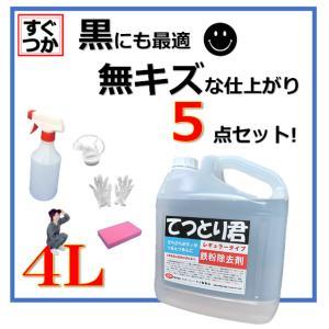 鉄粉除去剤 鉄粉取り 鉄粉除去 融雪剤 てつとり君 4L レギュラータイプ