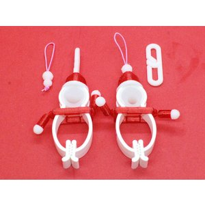 TLTLクリップ サンタ 10個セット(クリスマス仕様 RED)|sentakuclip