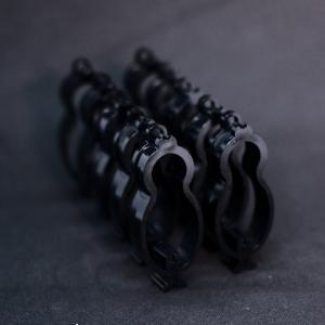 洗濯クリップ 黒 (矩形歯)10個set 吊り下げ具別売|sentakuclip