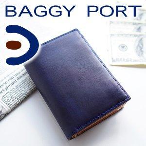 BAGGY PORT バギーポート 藍染めレザー シリーズ 小銭入れ付き二つ折り財布 ZYS-096 人気|sentire-one