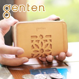 genten ゲンテン cut work カットワーク コインケース 40608(31632) ミニ財布 レディース 人気 sentire-one