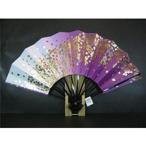 舞扇子 A27 紫横ぼかし 金箔桜 サイズ変更・骨色変更可能 senwata