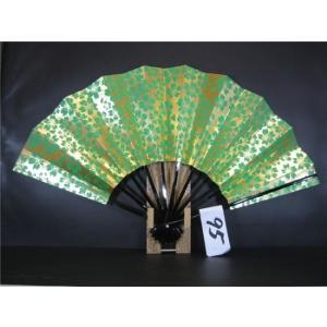 舞扇子 A95 草べた 金箔桜ぬき サイズ変更・骨色変更可能 senwata