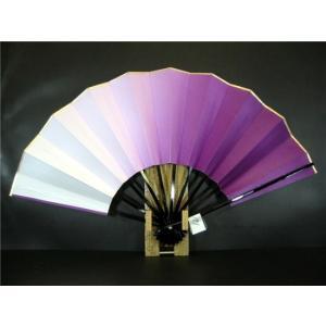 舞扇子 A181 紫横ぼかし 分金 サイズ変更・骨色変更可能 senwata