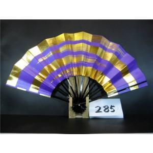 舞扇子 A285 紫べた シルバー引き 金箔4段かすみ サイズ変更・骨色変更可能|senwata