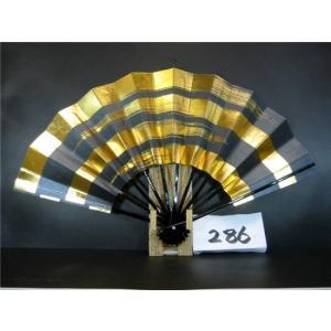 舞扇子 A286 黒べた シルバー引き 金箔4段かすみ サイズ変更・骨色変更可能|senwata