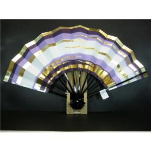舞扇子 A311 紫天地二段 金箔かすみ サイズ変更・骨色変更可能|senwata