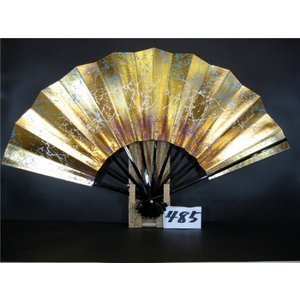 舞扇子 A485 空・紫天地ぼかし 金箔もみ サイズ変更・骨色変更可能 senwata
