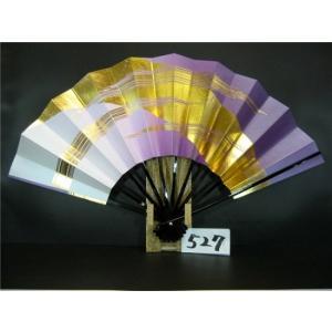 舞扇子 A527 金箔モミかすみ 紫横ぼかしシルバー引き サイズ変更・骨色変更可能|senwata
