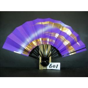 舞扇子 A601 金箔かすみ 紫べた シルバーピース サイズ変更・骨色変更可能|senwata