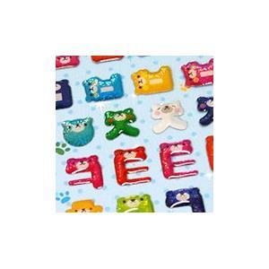 [韓国雑貨]キラキラでぷっく〜り クマさんのイニシャルステッカー[6枚セット][シール][韓国 お土産][可愛い][かわいい][文房具][文具]|seoul4
