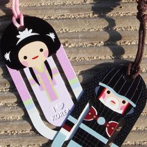 [韓国雑貨] 伝統キャラクター カップルブックマーク [4つSET] [輸入雑貨] [かわいい]|seoul4