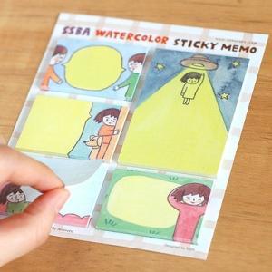 [韓国雑貨] SSBA WATERCOLOR Sticky Memo [輸入雑貨] [文房具] [文具] [かわいい]|seoul4