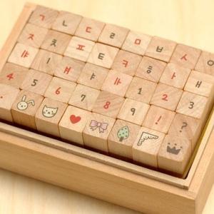 [韓国雑貨]これで私もデコの女王になれる〜 TOTOハングル+数字+イラストスタンプ (40ピースセット)[お土産][可愛い][かわいい][文房具][文具]|seoul4