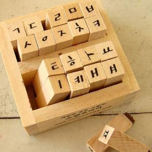 [韓国雑貨]にこにこハングル スタンプセット[タイプD][韓国 お土産][可愛い][かわいい][文房具][文具]|seoul4
