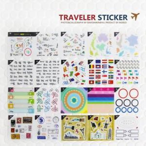 [韓国雑貨] 旅行の思い出を輝かせる/トラベラーステッカー [2セット] [シール] [輸入雑貨] [文房具] [文具] [かわいい]|seoul4
