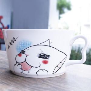 [韓国雑貨]かわいいネコ/一口ちょうだい ラーメン皿[可愛い][かわいい][韓国 お土産]|seoul4