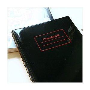 [韓国雑貨][MMMG]いつからでもスタートできる万年ダイアリー TOMORROW-S[enamel black][スケジュール帳][手帳][日記帳][可愛い]TBT564678|seoul4