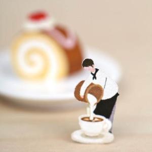 [韓国雑貨] 小人がせっせとお仕事します^^ ステッカー3種≪パン屋さん+カフェ+デスク≫ [3枚セット] [シール] [輸入雑貨] [文房具] [かわいい]|seoul4