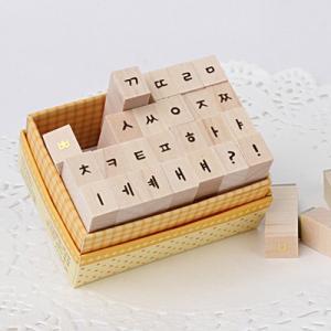 [韓国雑貨]ゴールドのステッカーがステキ 手書きハングルスタンプ (28個セット)[シール][通販][可愛い][かわいい][文房具][文具]13K215020690271|seoul4