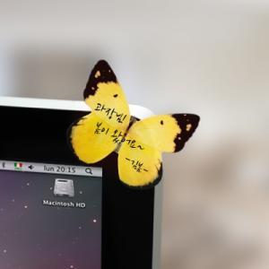 [韓国雑貨] 羽ばたくポストイット Butterfly memo-it [イエロー&ブルー] [付箋] [輸入雑貨] [文房具] [文具] [かわいい] 13K215020866416|seoul4