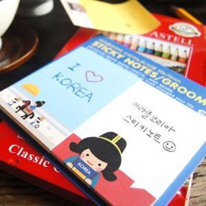 [韓国雑貨]伝統キャラクター イラスト付箋セット[選べる3つセット][韓国 お土産][可愛い][かわいい]TBT652658|seoul4
