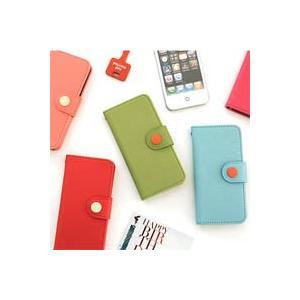 [韓国雑貨]カード2枚も収納OK♪ ビビットカラーのボタンケース[iPhone5専用][スマホケース][iphoneケース]13K215021564323|seoul4