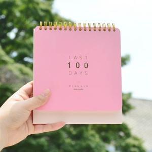 [韓国雑貨] 目標に向かってカウントダウンする私だけのカレンダー Last  100 day Planner [輸入雑貨] [文房具] [文具] [かわいい] bbs2643577|seoul4