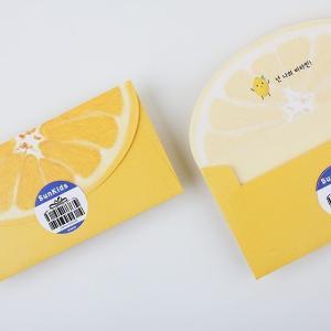 [韓国雑貨]フレッシュなお便り ジューシーな封筒≪スイカ&ブレープフルーツ/4枚セット≫[韓国 お土産][可愛い][かわいい][文房具][文具]|seoul4|08