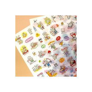 [韓国雑貨] -SSBA- TOTOダイアリーステッカー vol.3 [6種×2セット] [シール] [輸入雑貨] [文房具] [文具] [かわいい] 13k201011040171|seoul4