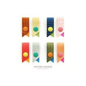 [韓国雑貨] 配色とパターンが可愛い pattern winder [2色セット] [スマホケース] [韓国 雑貨] [文房具] [文具] [かわいい] [アジアン雑貨]|seoul4