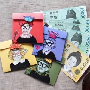 [韓国雑貨]さて私はダレでしょう?? 仮面のご祝儀袋[4種セット][韓国 お土産][可愛い][かわいい][文房具][文具]TBT796952|seoul4
