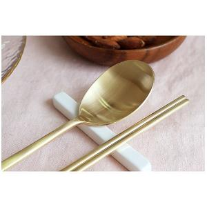 [韓国雑貨]これがないと始まらない スッカラ&チョッカラ お箸&スプーン 2膳セット[ゴールド / シルバー][韓国食器][お土産][可愛い][かわいい]|seoul4|02